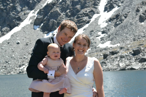 adventure wedding queenstown with baby
