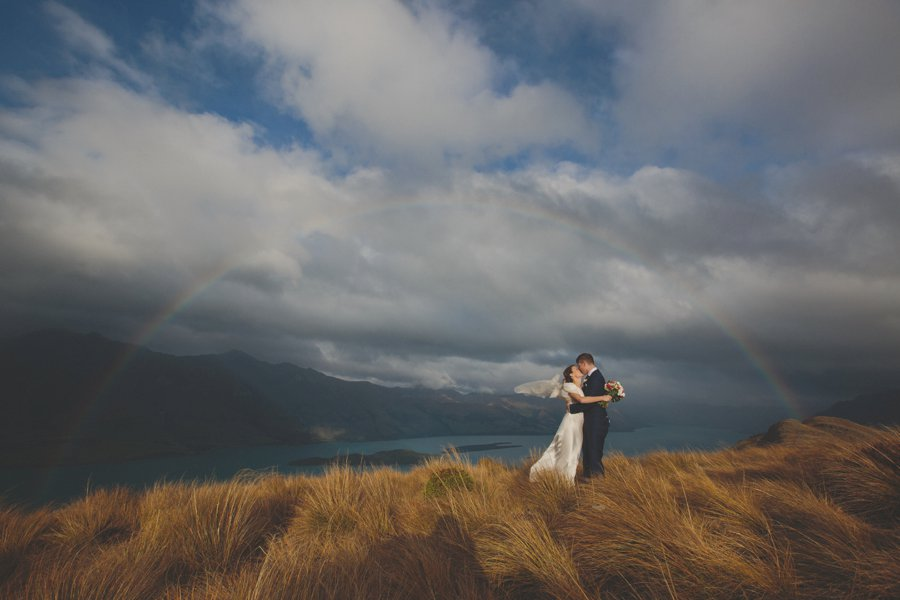 queenstown mountain weddings rainbow wedding