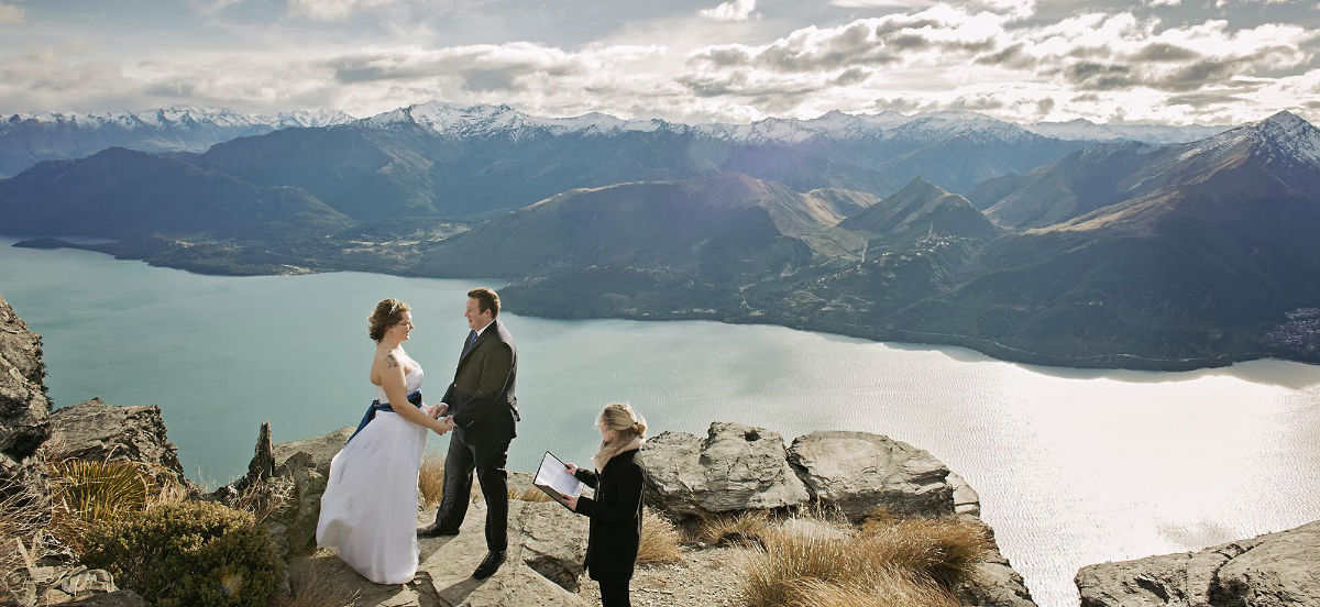 Queenstown heli-wedding at The Ledge, Cecil Peak
