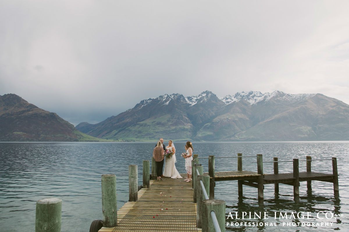James & Allison's intimate family wedding on Lake Wakatipu, Queenstown