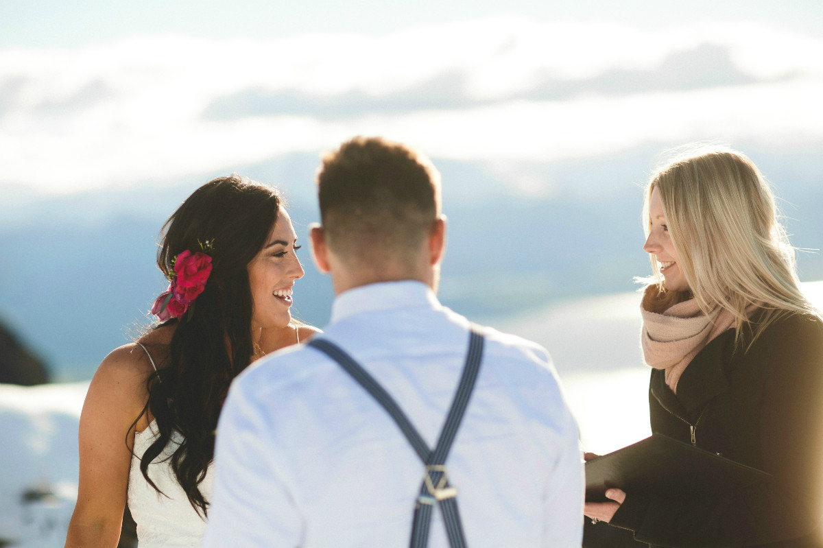 Queenstown heli-wedding at Cecil Peak
