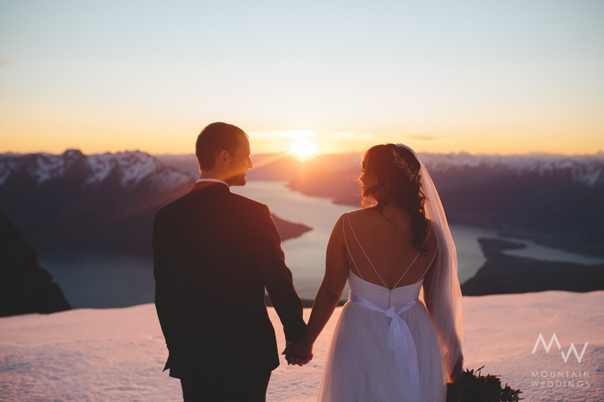 Queenstown sunset wedding