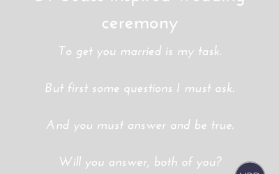 Dr Seuss Inspired Wedding Ceremony and Vows