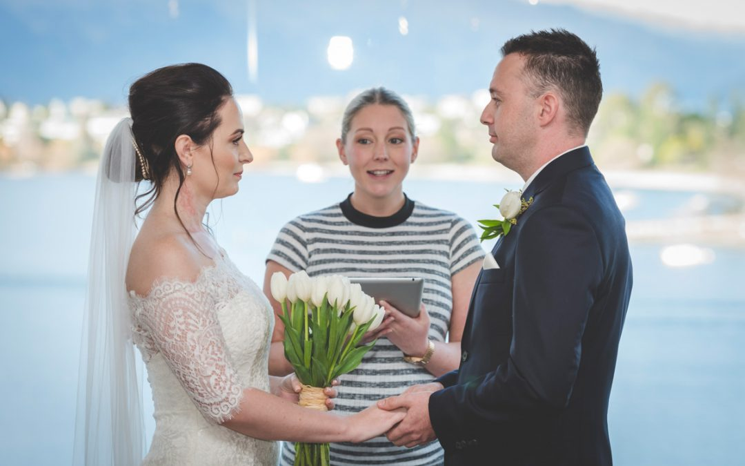 Queenstown celebrant indoor wedding