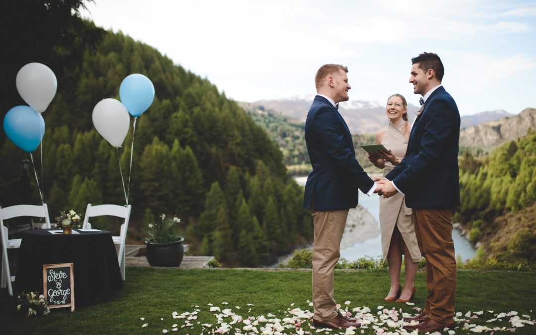 queenstown celebrant gay wedding