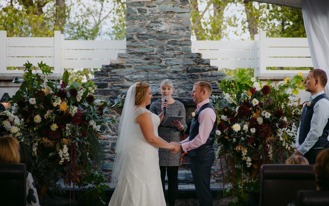queenstown celebrant winter wedding kristal and chris