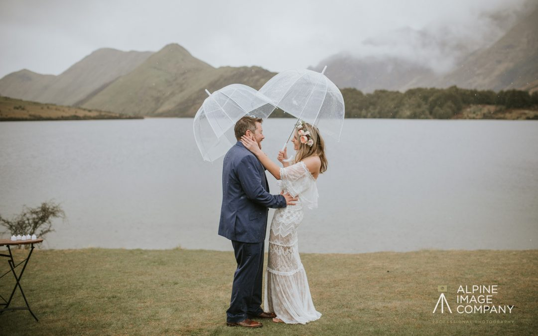 """Our whole family commented on how great the ceremony was, even with the rain!"""