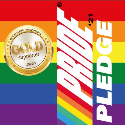 gold pride pledge supporter 2021 badge