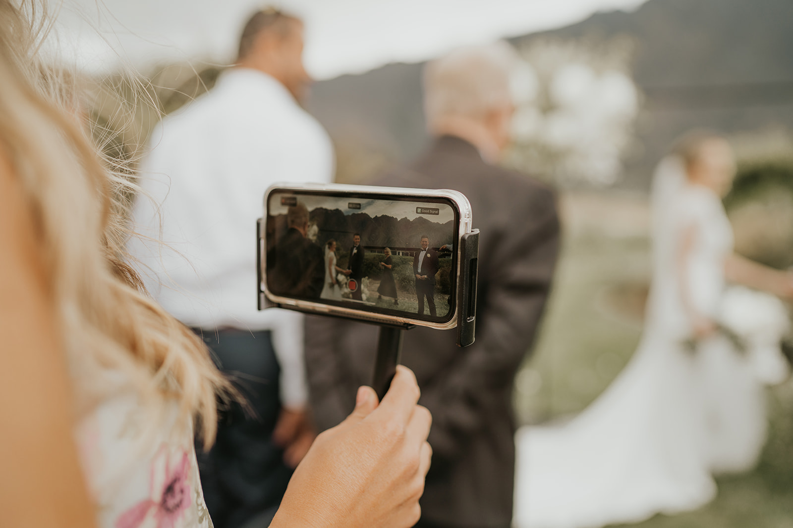 guest live stream records wedding ceremony at Jack's Point Queenstown